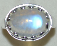 Natural Rainbow MOONSTONE Sterling Silver Gents Ring 925 Mens Sizes M,6 to Z5,15