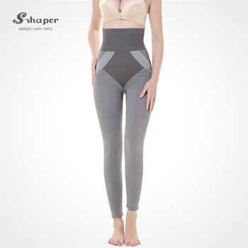 742501e414 S-SHAPER Slimming Far Infrared Bamboo Long Pants Underwear Fitness Shapewear