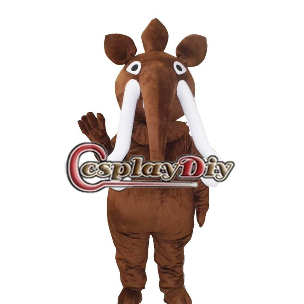 Elephant Mascot Adult Unisex Cartoon Animal Mascot Costume Custom Made