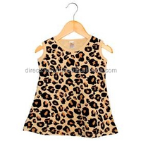 high quality cotton fabric plain color baby dresses