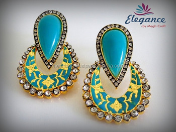 Bollywood Style Costume Earring Indian Fancy Party Wear Whole Designer