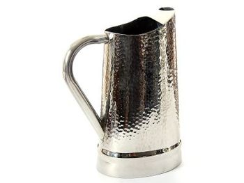 Hammered Stainless Steel Water Pitcher