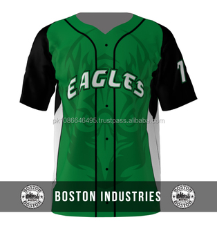 1e22141a53f Custom Eagles Green Sublimated Baseball Jersey With Custom Front Back Logo  Baseball Jersey Breathable Polyester