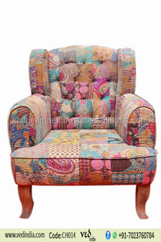 Royal Vintage Wooden Patchwork Maharaja Chair Cheap King Chairs