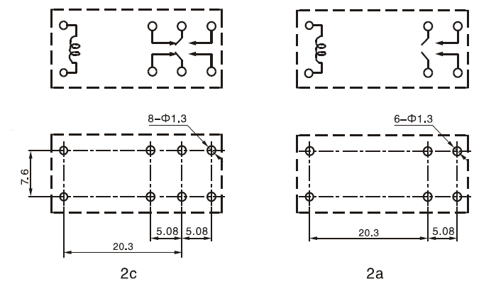 Electromagnetic Double Contact 12 Volt Refrigerator Relay Prices