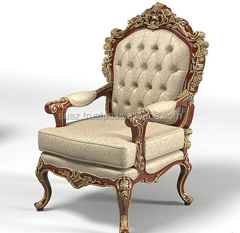 Merveilleux Wood Carved Room Chair, Wholesale Wooden Carved Chair , Antique Style Solid Carved  Wood Design