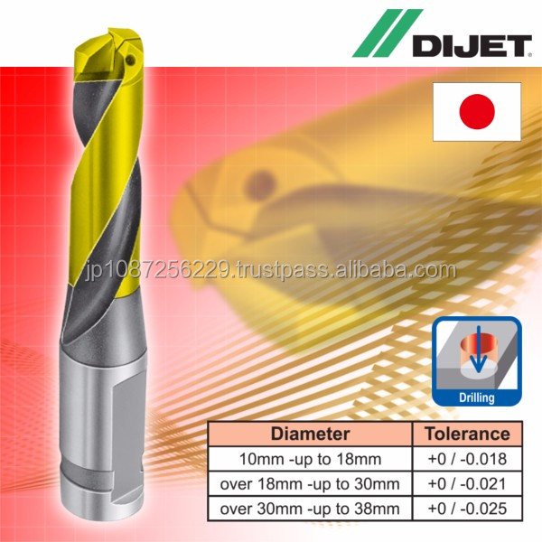 High chipping resistance and High quality Dijet wide range drill for industrial use