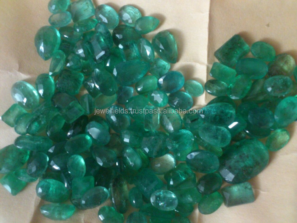 Natural loose Emerald lot from Zambia in oval pear shape Nice clarity