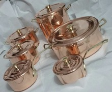 stylish Copper Cooking Set