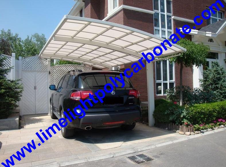 Policarbonato marquesina aluminio cochera diy cochera for Garajes con techos policarbonato