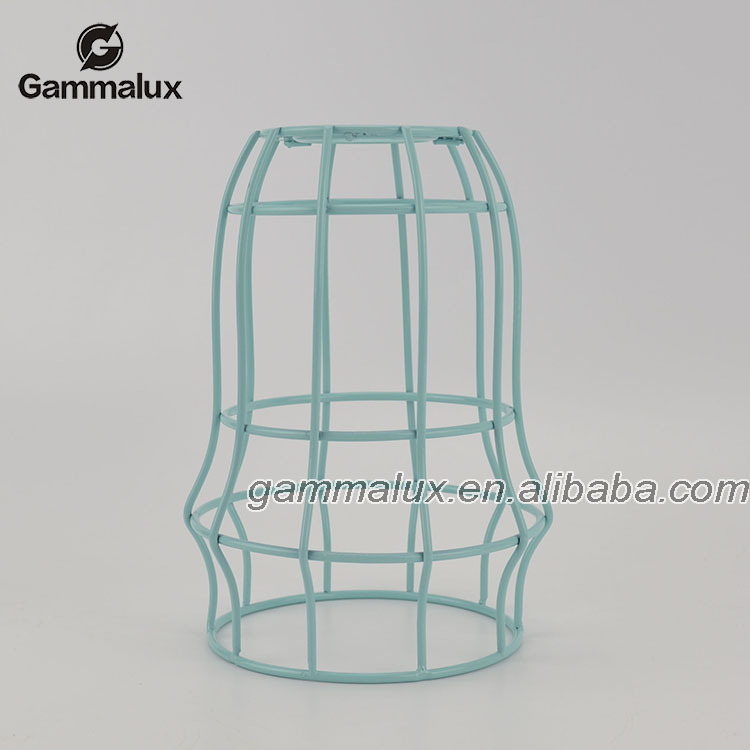 Wire Lamp Cage Blue Cage Pendant Light Bulb Shape - Buy Light Bulb ...