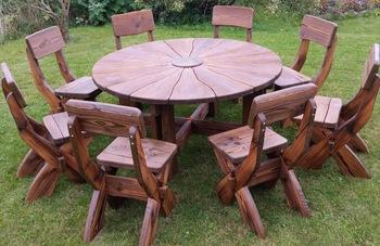 Garden Furniture Of Natural Wood