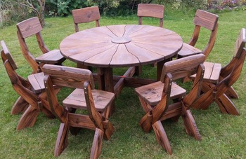 Aged Outside Garden Furniture Of Natural Wood Wooden Hand Made Product On Alibaba