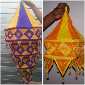 Indian embroidered ethnic lamp shade hanging buy indian indian embroidered ethnic lamp shade hanging mozeypictures Image collections