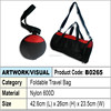 Foldable Travel Bag (red & black)