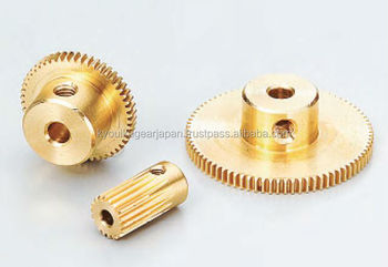 Spur gear Module 0.8 Brass Made in Japan KG STOCK GEARS