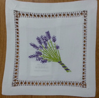 Hand embroidered lavender sachet/bag/pillow-lavender embroidery (design #19)
