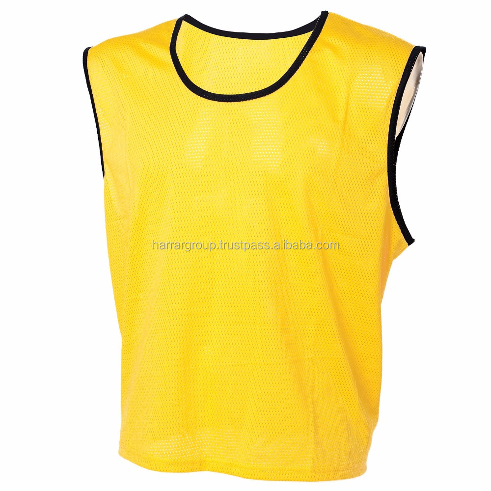 whole sale high quality soccer bibs,team training sleeveless vest