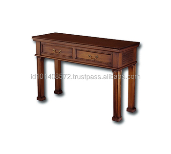 Mahogany Hall Table Spanish Style Indoor Furniture.