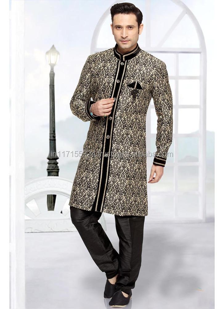 Homme ethnique Bollywood Pakistanais Kurta PAYJAMA Vêtements Mariage Designer Robe