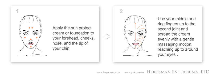 Steps-and-Use-Sun-Protect-Cream&foundation