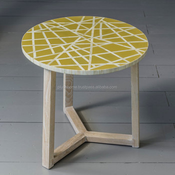 Sunshine Bone Inlay Coffee Side Table