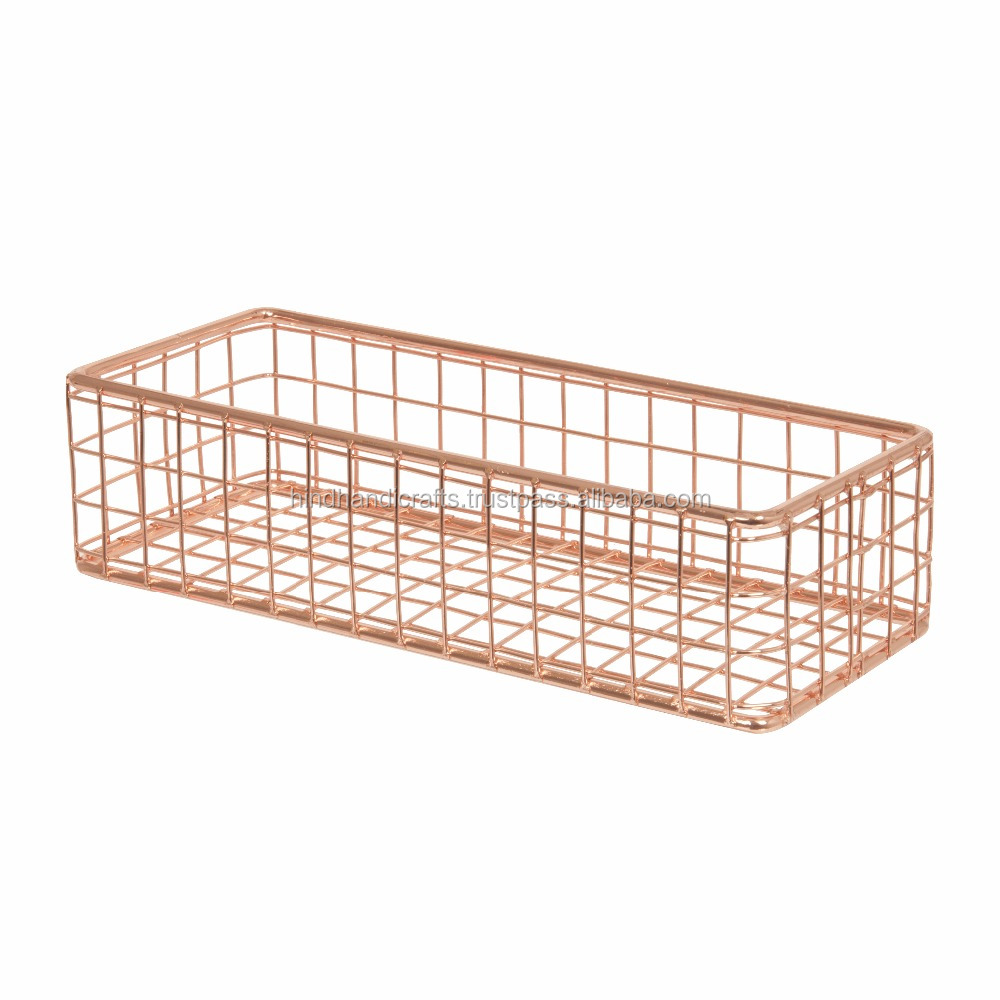 Metal Wire Mesh Basket for Cutlery, stainless steel wire mesh baskets