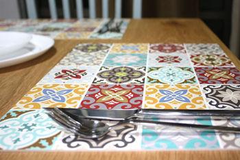 Pvc vinyl placemat 30x40 cm tegels placemat voor keuken eettafel