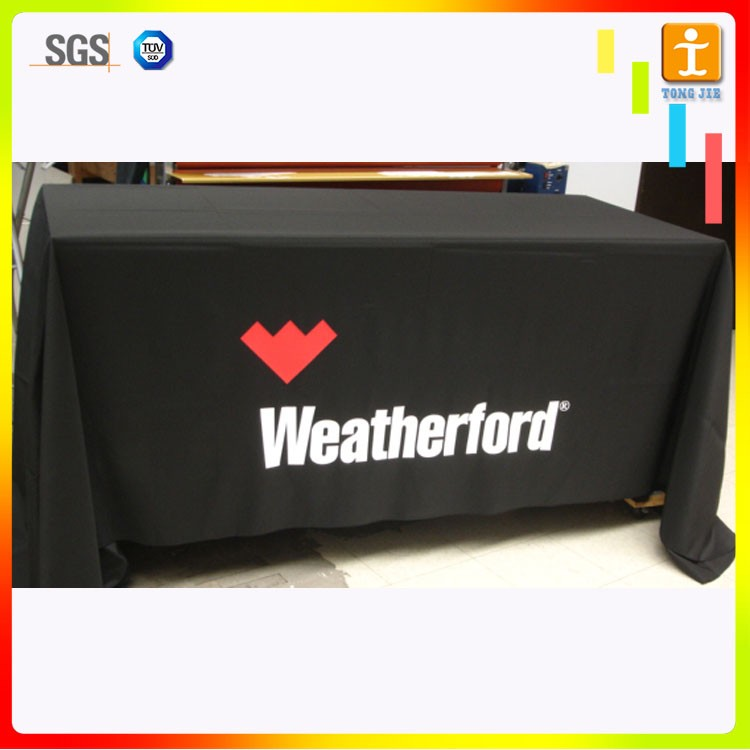 2018 Quick Turnaround Fancy Tablecloth With Custom Logo Dye Sublimation  Printed Fade Resistant - Buy Fancy Tablecloth,Custom Fancy Tablcloth,Print