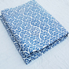 Retro Look Indigo Blue White Indian Hand Print Cotton Fabric Block Stamp Cotton Multi Purpose Voile Running Fabric CJACF-10