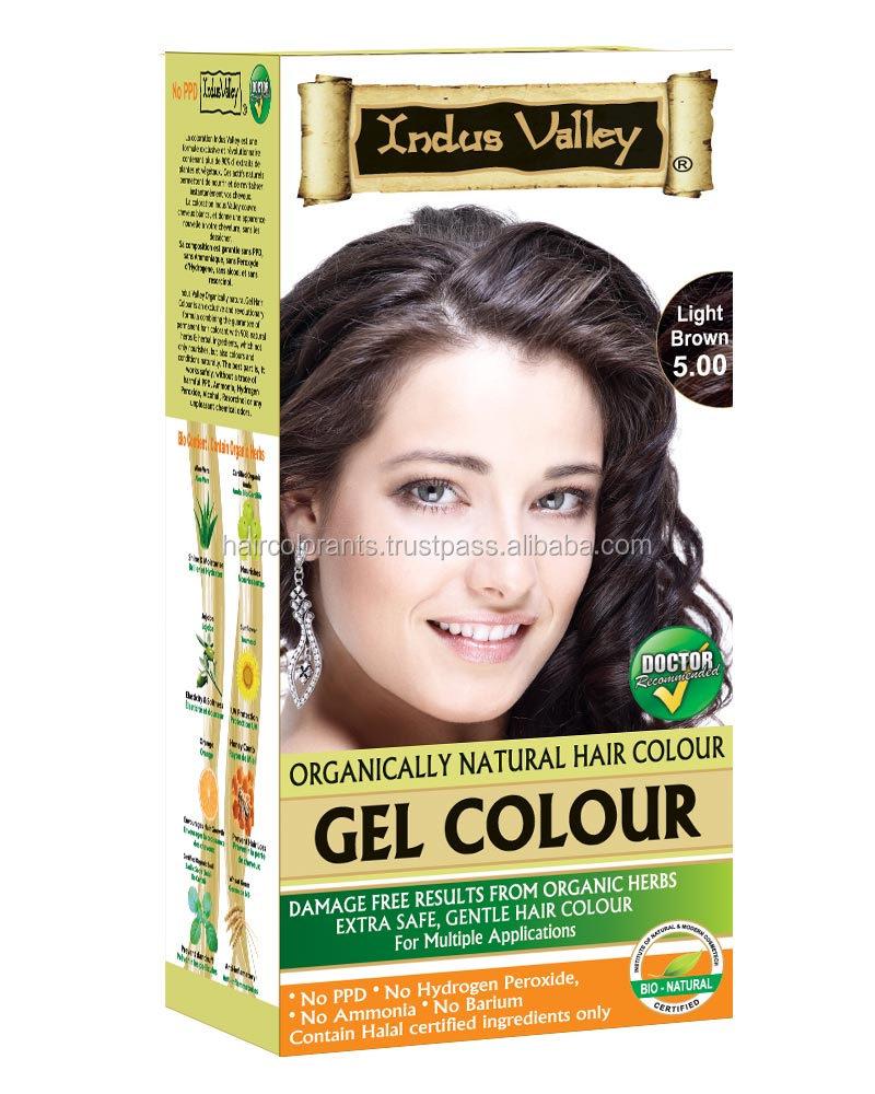Permanent Safe Herbal Gel Hair Colour Cream No Ammoniano Ppdno