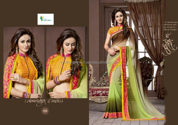 fd1964e450ad5 Dual shade classy party wear georgette sarees - Indian Sarees online  wholesale - Surat sarees wholesale
