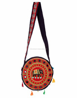 2015 New Arrival Rajasthani Elephant Embroidery Traditional Sling Bags/Ethnic Latest Fashion Vintage Cross Body Bag