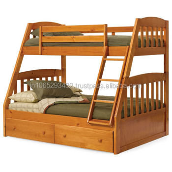 Double deck wooden bed buy wood double bed designs for Bedroom designs with double deck bed