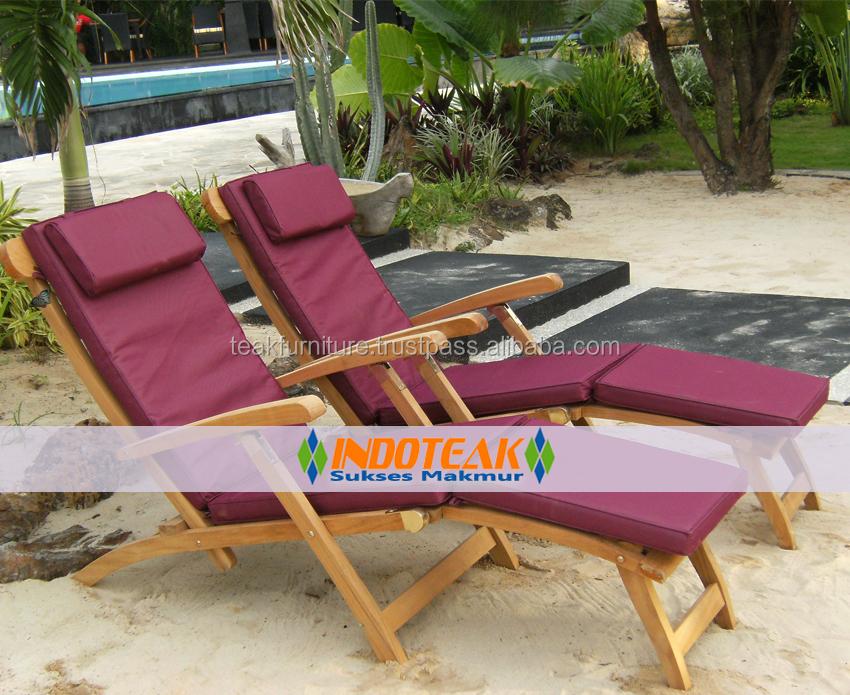 Teak mobili da giardino chaises salotti lettino - Cuscini per poltrone da giardino ...