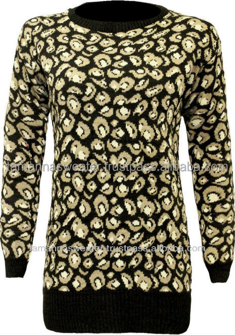 NEW LADIES REACTIVE PRINTED 12GG FINEST CARDIGAN SWEATERS