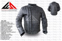 Leather motorcycle garments, customized jackets motorcycle in grey