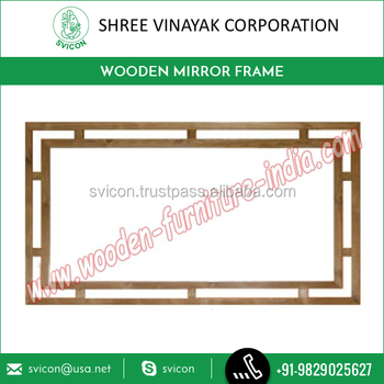 High Quality Shesham Wood Mirror Frame Wooden Frame From Top