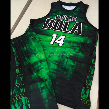 e113fb727c2 2017 latest design custom basketball jersey green color with OEM Custom