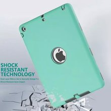 For iPad mini 1/2/3 Retina Kids Safe Armor Shockproof Heavy Duty Silicone Hard luxury Case Cover w/Screen Protector Film