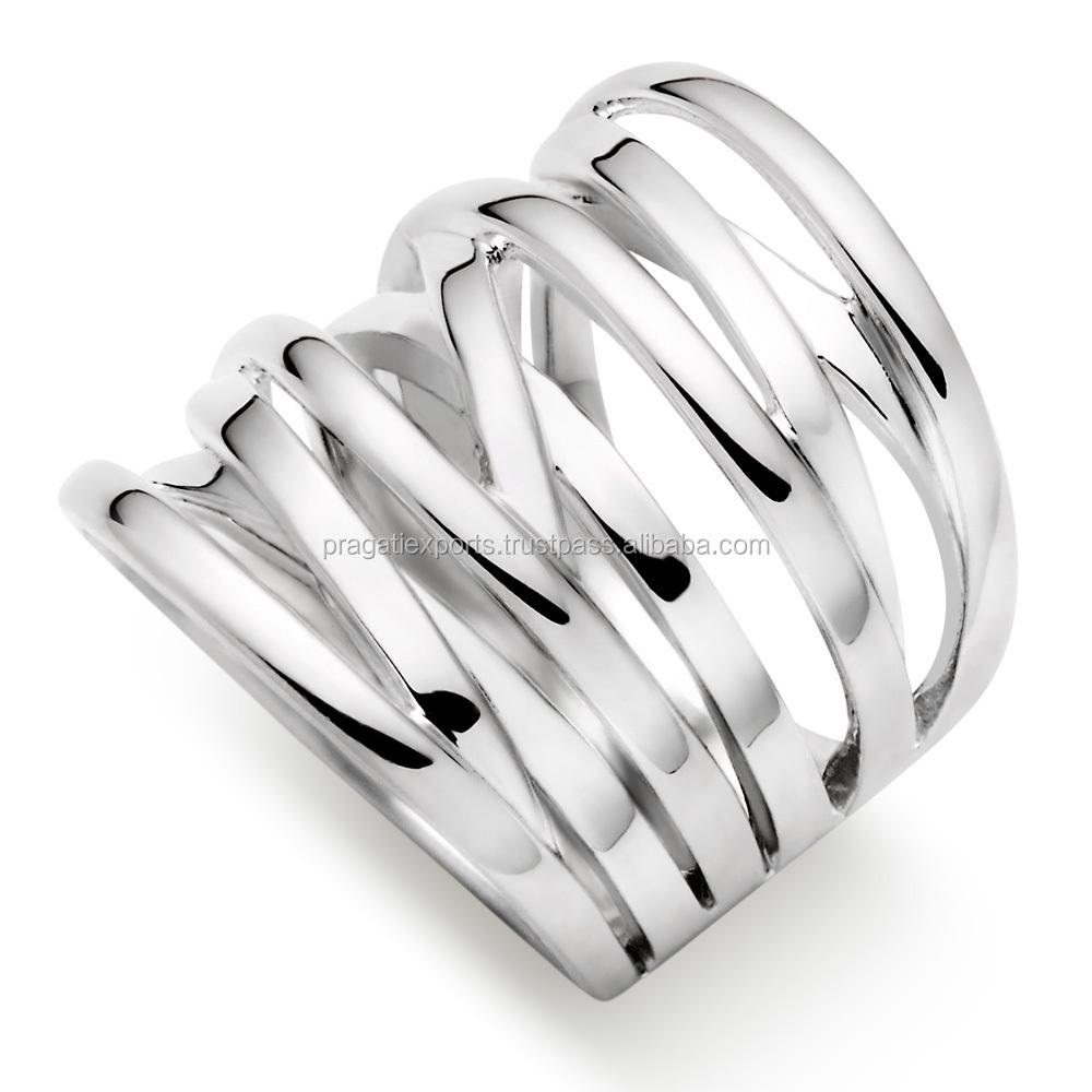 Silver Wire Unique Design 925 Stamp Plain Ring