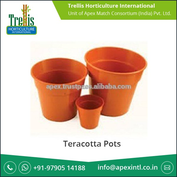 Optimum Strength Teracotta Pots for Internal Garden Use at Industry Leading Price
