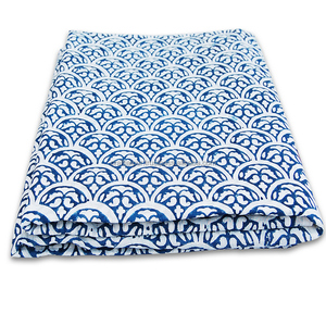 Wholesale block printed voile cotton indian fabric