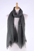 Plain colored scarf 100% linen