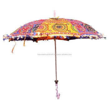 Indischer Handgemachter Gestickter Gartenschirm Buy Regenschirm