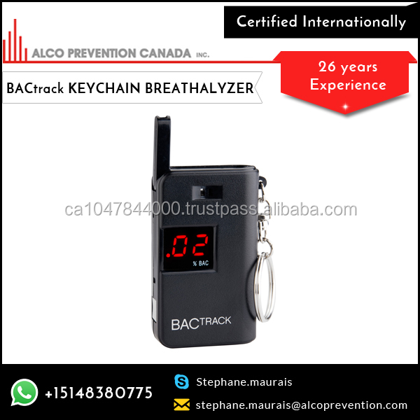 Portable Keychain Backtrack Breathalyzer With Simple Touch ...