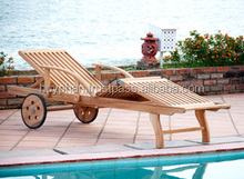 Sun lounger, Nice design, Eucalyptus FSC, Flat pack, Oil finish.
