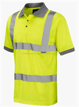 Polo Design Safety T Shirt With Reflective Tape High