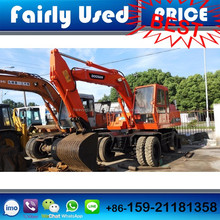 Fairly Used Daewoo Doosan 140WV Wheel Excavator of Doosan 140WV Excavator