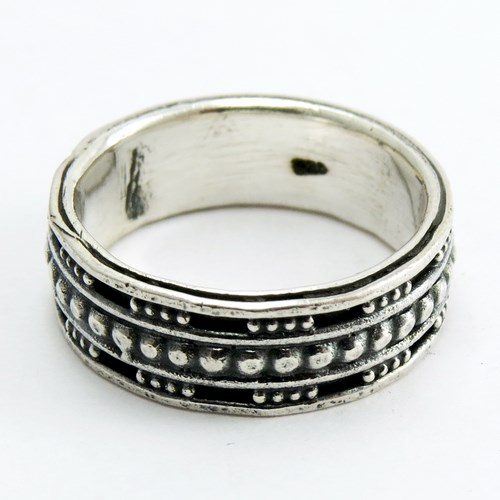 Gorgeous Oxidized Plain Silver 925 Sterling Silver Band Ring, Plain Fine Silver Jewelry, Oxidized Silver Jewellery India